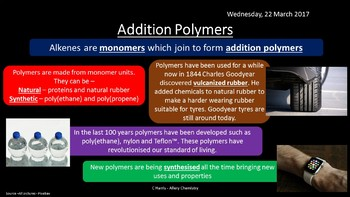 NEW AQA Yr1 Alkenes Revision