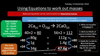NEW AQA Yr1 Amount of Substance Revision