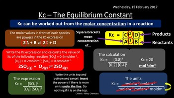 NEW AQA Yr1 Equilibria Revision