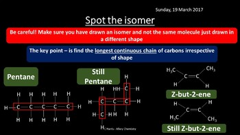 NEW AQA Yr1 Introduction to Organic Chemistry Revision