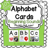 Printable Beginning Sounds Alphabet Cards with Real Photos