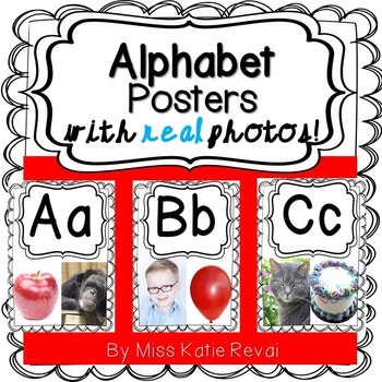 Back to School: Alphabet Posters with REAL Photos (Beginni