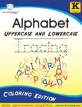 NEW! Alphabet Uppercase/Lowercase Tracing Packet - Coloring Edition