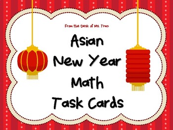 NEW  Asian New Year Math Task Cards