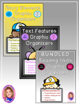 NEW BUNDLED Reading Skills Graphic Organizers!