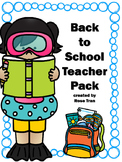 NEW  Back to School Teacher Pack WORRY-FREE BEGINNING OF YEAR