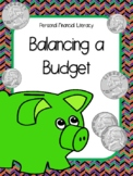 NEW  Balancing a Budget Activity FINANCIAL LITERACY (TEKS