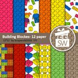 NEW Building Blokes paper,background,fon,pattern