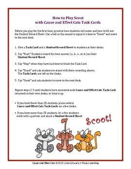 CAUSE & EFFECT CATS • GRADES 3–5