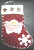 NEW CHILDRENS RED CHRISTMAS STOCKING chocolate star ballerina girl snowflake