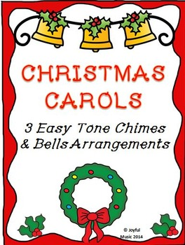 CHRISTMAS CAROLS 3 Easy Chimes & Bells Arrangements BUNDLE