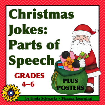 NEW! CHRISTMAS JOKES: PARTS OF SPEECH • POSTERS