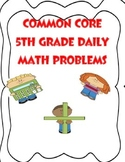 COMMON CORE 5TH GRADE END OF GRADE ASSESSMENT REVIEW MATH WORD PROBLEMS