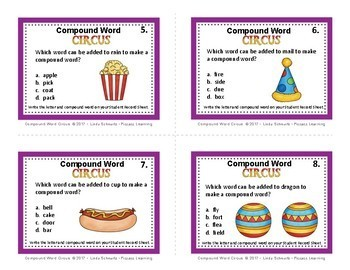 NEW! COMPOUND WORD CIRCUS  • GRADES 3–4