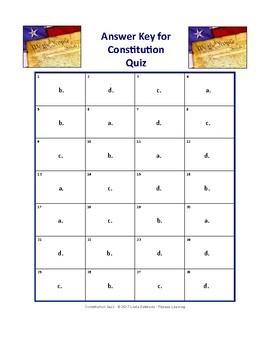 CONSTITUTION QUIZ • GRADES 5–8