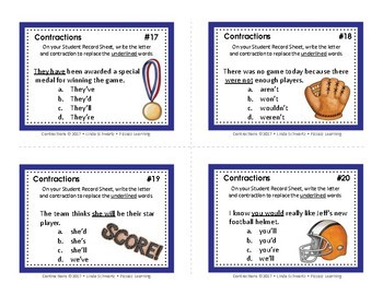 CONTRACTIONS • GRADES 3–4 • SPORTS-THEMED