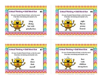CRITICAL THINKING  • ODD WORD OUT • GRADES 5–6