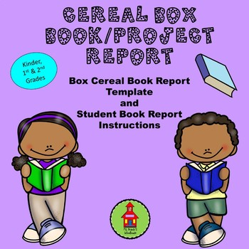 NEW Cereal Box Book Report