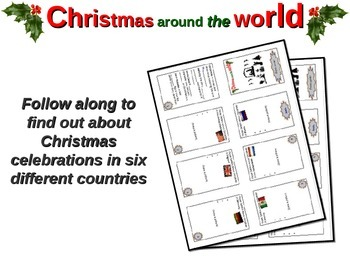 "NEW! ""Christmas Around the World"" PowerPoint and foldable book with video links"