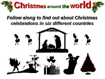 "NEW! ""Christmas Around the World"" PowerPoint and foldable"