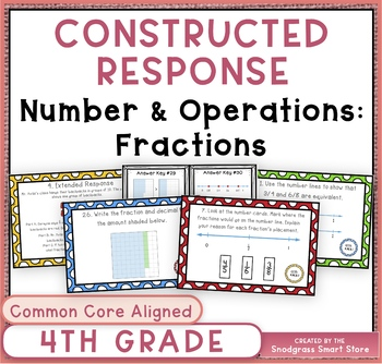 Math Constructed Response Word Problems: 4th Fractions (NF)