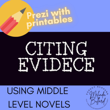 *NEW* Common Core Reading Minilesson Collection: Citing Evidence (PREZI)