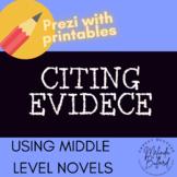 *NEW* Common Core Reading Minilesson Collection: Citing Evidence (PREZI)