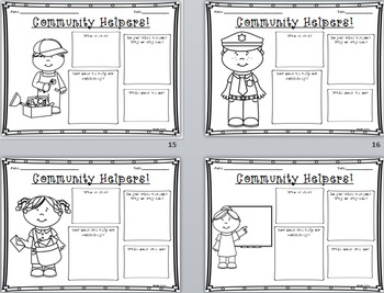 NEW Community Helpers Graphic Organizers!