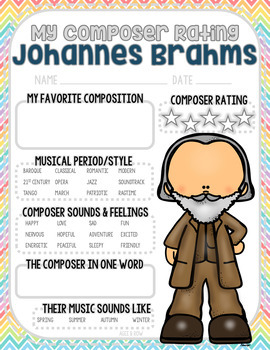 NEW!  Composer Activities, Music Journal, Romantic, Valentine's Day, Spring