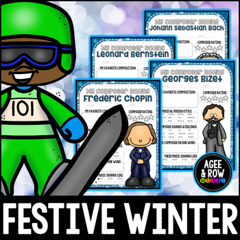 NEW!  Composer Rating Activities, Music Journal, December, Winter, Christmas