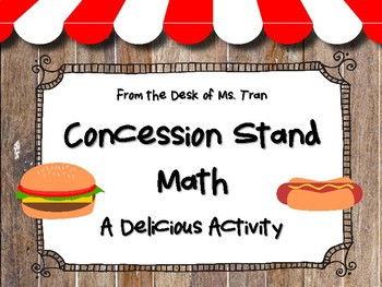 Concession Stand Math: A Delicious Activity to Review Money and Decimals