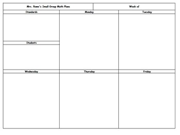 **NEW, Condensed, Editable Lesson Plan Template