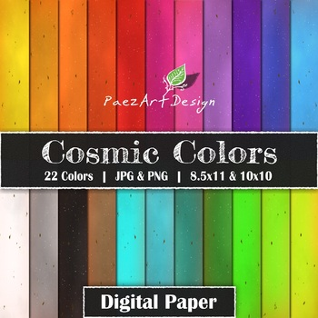 NEW Cosmic Colors Digital Paper {PaezArtDesign}