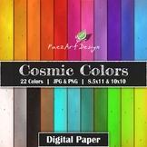 Digital Paper | Cosmic Colors {PaezArtDesign}