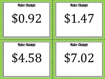 NEW  Counting Money Mats & Making Change Task Cards (aligned to 3.4C, 2.MD.C.8)