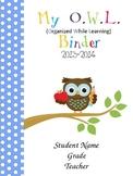 NEW Cute Owls- Editable Binder Cover