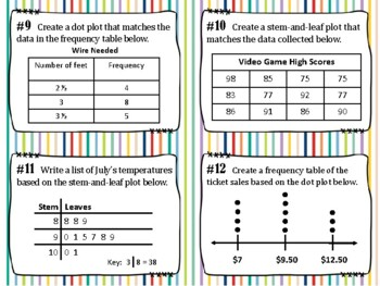 NEW  Data Analysis Task Cards (aligned to TEKS 4.9A and 4.9B)