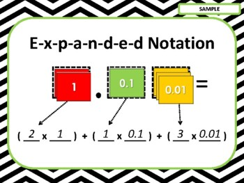 NEW  Hands-on Decimal Expanded Notation (aligned to TEKS 5.2A & CC 5.NBT.A.3.a)