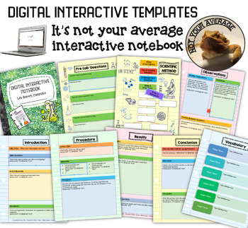 NEW Digital Interactive Lab Report Template Scientific Method