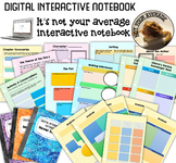 NEW Digital Interactive Notebook for Any Novel Study MIDDL