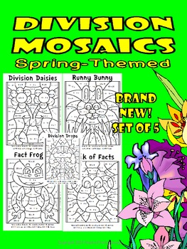 NEW!! Division Mosaics-Color By Division Fact Fun Pack!
