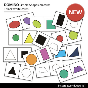 Activities Domino Simple Shape clipart