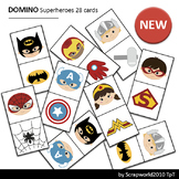 Activities Domino Superheroes 28 printable cards game
