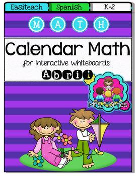 EASITEACH Calendar Math- Abril (Spanish)