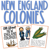 COLONIAL AMERICA POSTERS: New England Colonies   Coloring Book Pages