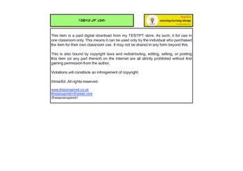NEW Edexcel GCSE PE Mind Map Activity Unit 2 - Topic 1