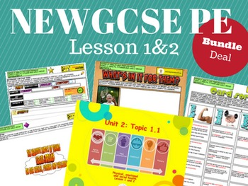 NEW Edexcel GCSE PE Unit 2 - Topic 1 - Lesson 1&2 BUNDLE PACK