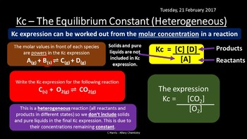 NEW Edexcel Topic 10 Equilibrium I Revision