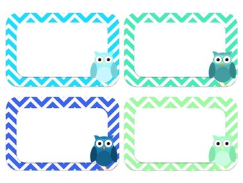 Editable Pastel Owl Label PACK
