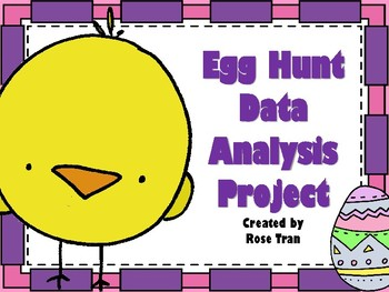 NEW  Egg Hunt Data Analysis Project (aligned to TEKS 4.9A,